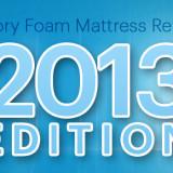Memory Foam Mattress Reviews: 2013 Edition