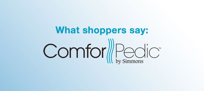 What Shoppers Say: Simmons ComforPedic Reviews